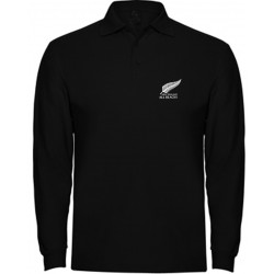 POLO MANGA LARGA ALL BLACKS